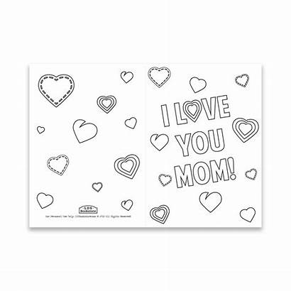 Mothers Coloring Printable Cards Card Hearts Mother