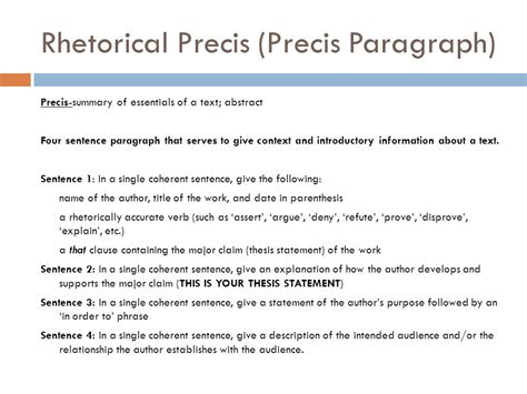 thesis statements using precis template argument in ap language and composition ppt download