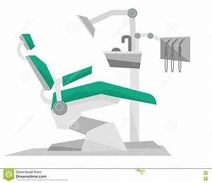 Dental Chair With Instruments And Tools. Stock Vector ...