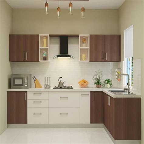 shaped kitchen india homelane