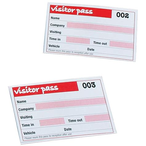 Visitor Pass Template by Visitor Pass Sle Www Pixshark Images Galleries