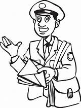 Postman Clipart Letter Bag Illustration Clipground Cliparts sketch template