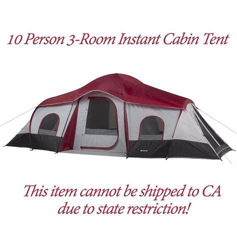 ozark trail 10 person 3 room instant cabin tent ozark trail 10 person 3 room instant cabin tent large