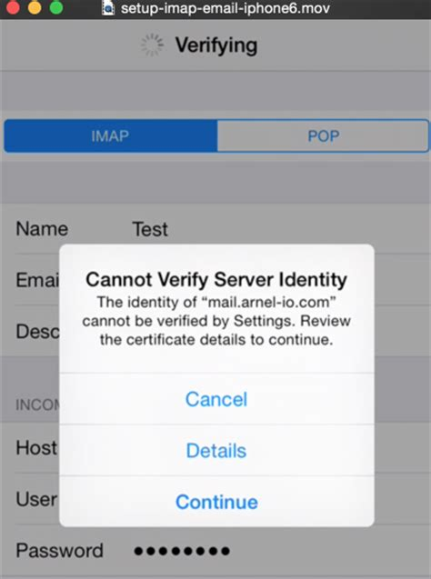 cannot get mail on iphone configuring your iphone for email inmotion hosting