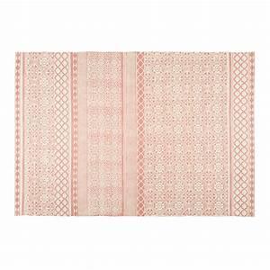 Tapis En Coton : tapis en coton rose motifs graphiques 160x230cm boheme ~ Nature-et-papiers.com Idées de Décoration