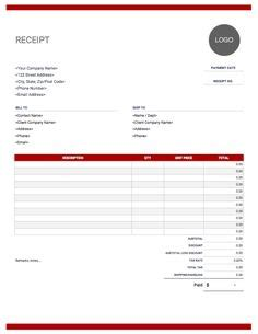 generic receipt template marketing in 2019 receipt