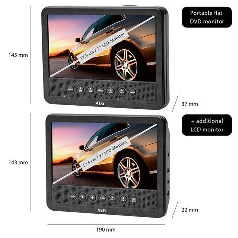 auto dvd player 2 monitore aeg dvd 4555 car cinema set 7 zoll portabler auto dvd player 2 monitore ebay