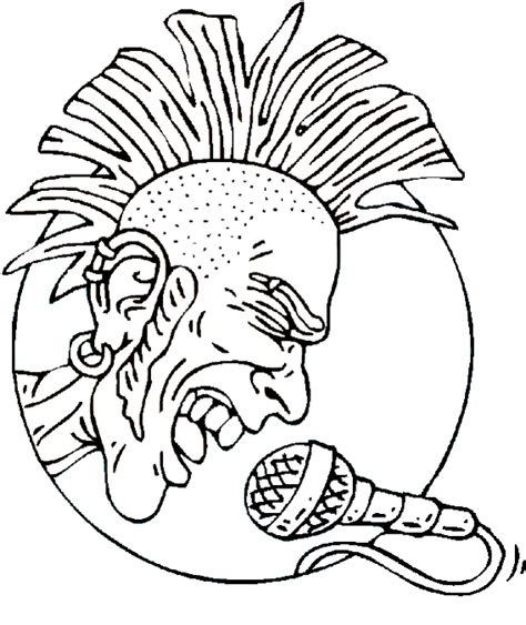 rock  roll coloring pages  rock rock  roll