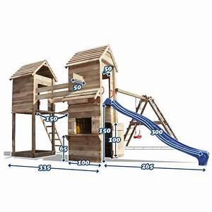 Balancoire Bois Toboggan : cabane en bois toboggan balancoire achat vente ~ Premium-room.com Idées de Décoration