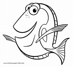 Free coloring pages of dory the fish