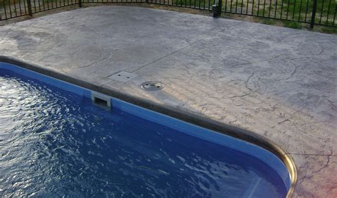 pool patio materials stamped concrete  pavers