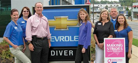 diver chevrolet  pace fighting breast cancer