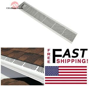 Aluminum Steel Snap White Gutter Guard Durable Pvc