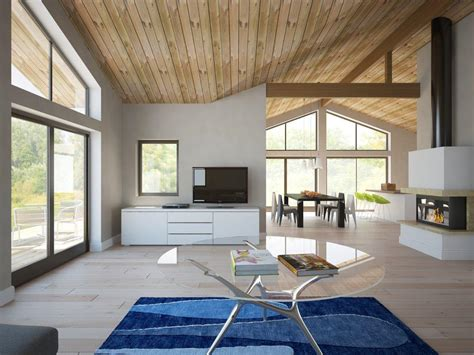 modern house ch  vaulted ceiling   bedrooms house plan
