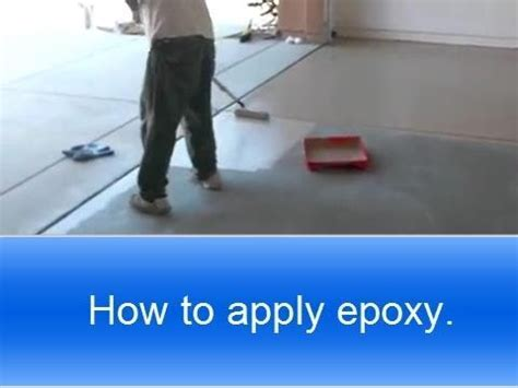 How to apply Rust Oleum garage epoxy.   YouTube