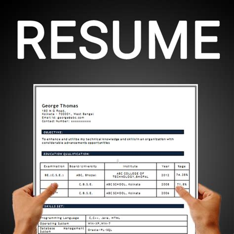 Free Resume Template App by Resume Builder Free Cv Maker Templates Formats