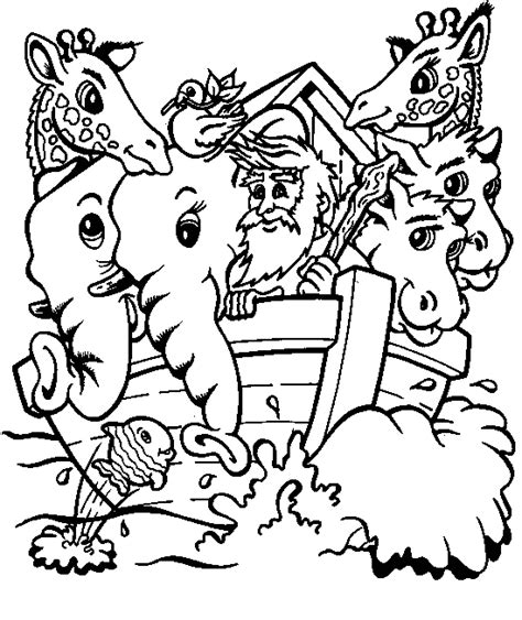 Kleurplaat Regenboog Ark Noach by Www Christiancomputergames Net Noach Ark Volmetdieren