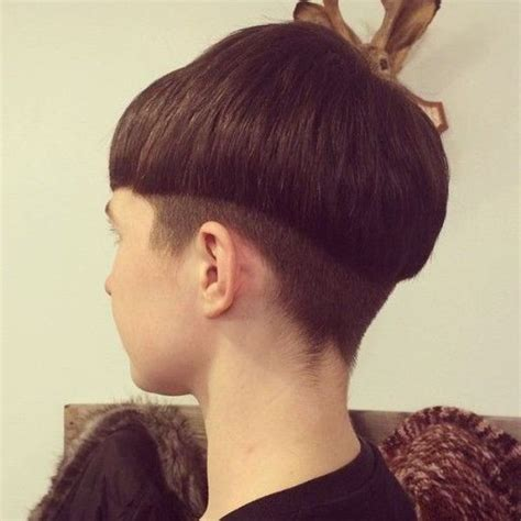 mushroom cut hairstyle for baby girl