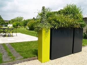 Jardinière Haute Pas Cher : id e jardin moderne d coration avec pot de fleur design ~ Premium-room.com Idées de Décoration