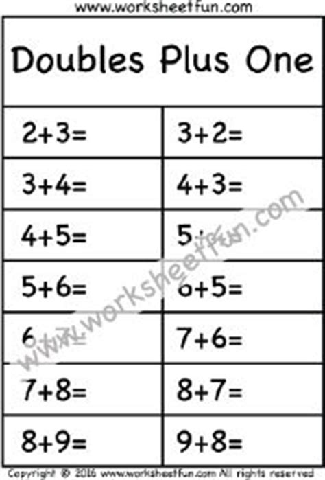 28 best images about doubles doubles plus one pinterest equation addition worksheets and