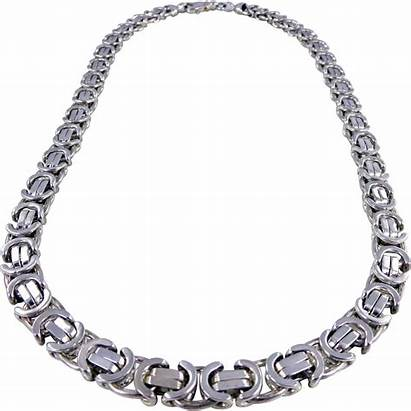 Chain Silver Heavy Sterling Italian Pagoda Necklace
