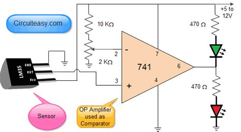 Temperature Sensor Electronic Projects Circuit Made Easy