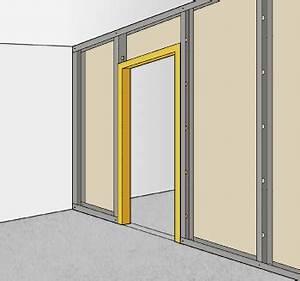 monter une cloison en plaques de platre sur ossature With placer une porte dans une cloison