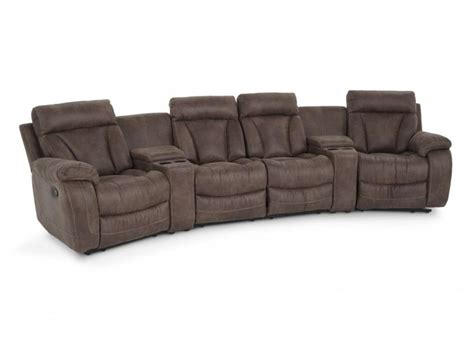tahoe 6 piece home theater sectional living room sets
