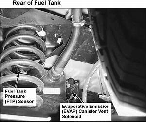 Check Engine Light On  Possible Evap Sensor Problem In The