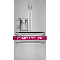 lg lmxc23746s 36 quot counter depth french door refrigerator