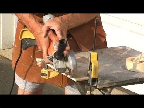 cutting tile with an angle grinder