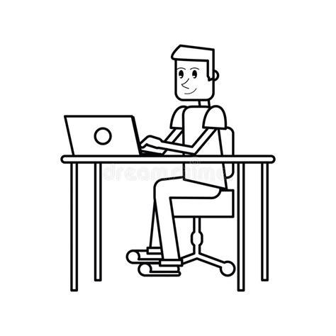 pictogramme bureau lieu de travail de bureau d 39 ordinateur portable de type de
