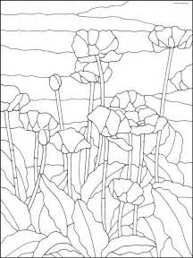 pattern  poppies   field glass painting patterns
