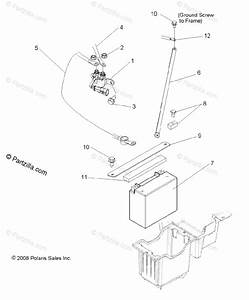 Polaris Side By Side 2009 Oem Parts Diagram For Electrical  Battery
