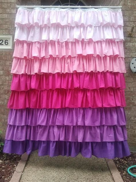 ombre ruffled dip dyed shower curtain what colors would