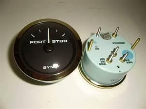 Teleflex Port  Starboard Boat Engine Sync Gauge