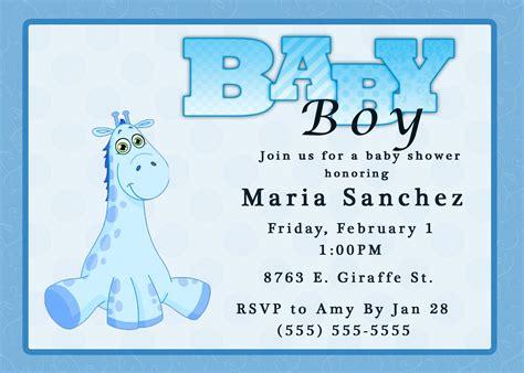 baby boy shower invitations templates baby boy