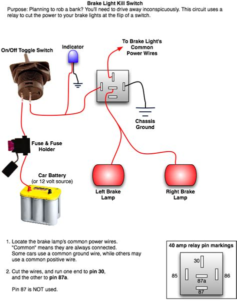 Wiring Diagram For Auto Light Switch by Rear Brake Light Kill Switch