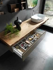 Plan Vasque Bois : salle de bain sur mesure plan vasque bois style naturel ~ Premium-room.com Idées de Décoration