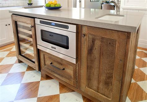 salvaged wood kitchen island 20 gorgeous ways to add reclaimed wood to your kitchen