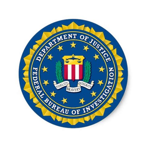 pin federal bureau of investigation on