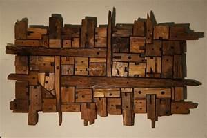 deco murale bois flotte With salle de bain design avec bois flotté décoration murale