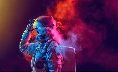 Astronaut Smoke Effects Space Colored Nasa Neon