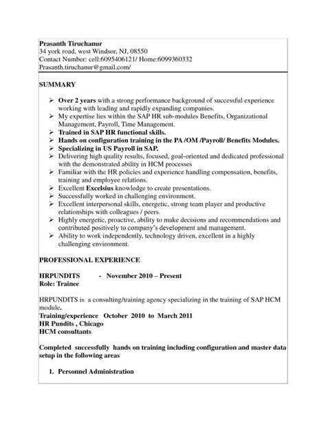 Sle Resume For 2 Years Experience In Net by Sap Fico Sle Resume 3 Years Experience 28 Images Sap