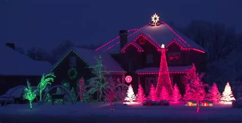 this is probably the best christmas lights display ever