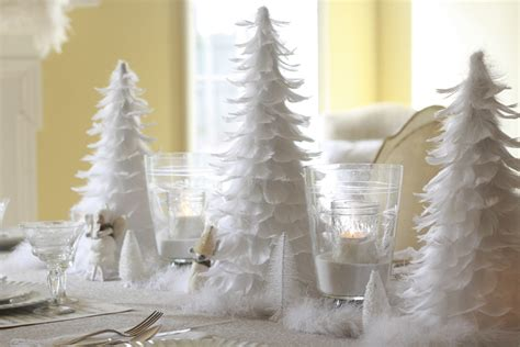 white christmas decoration christmas decorations white feather table wenderly