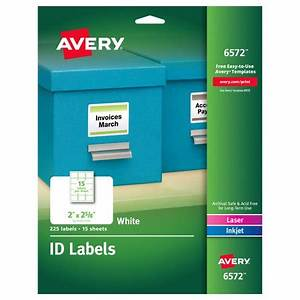 avery permanent id labels inkjet laser 2 x 2 5 8 white With avery labels 2 x 3 5