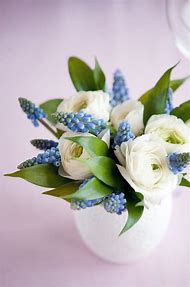 Blue and White Simple Flower Arrangements
