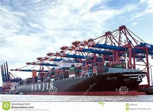 Container-port Hamburg editorial photo. Image of goods ...