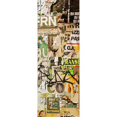 stickers pour porte de cuisine sticker déco de porte trompe l 39 oeil papier tag déco